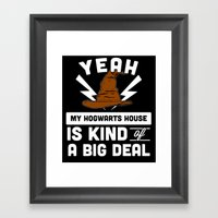 Houses Are Important Framed Art Print