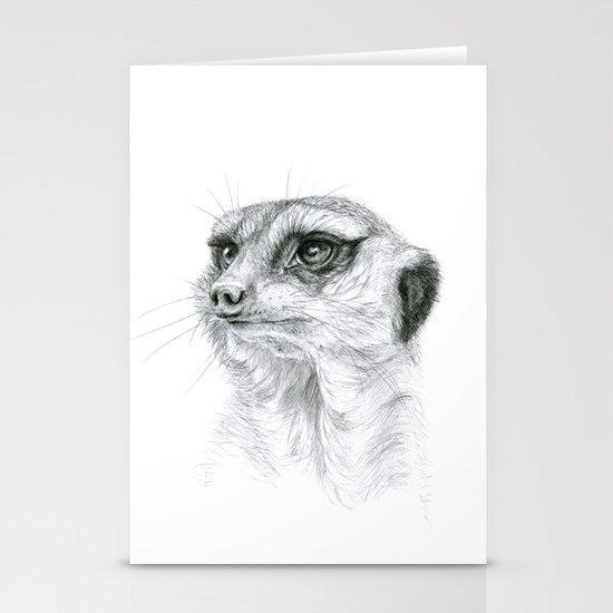 Meerkat G035 Stationery Card