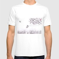 on the city Mens Fitted Tee White SMALL