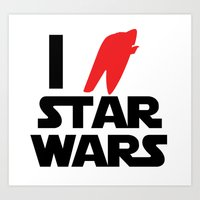 I Heart Star Wars Art Print