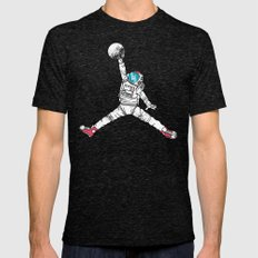 Space dunk Mens Fitted Tee Tri-Black SMALL