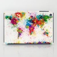 Map of the World Map Paint Splashes iPad Case