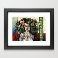 She Had Hummingbirds In … Framed Art Print