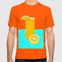 Lemonade /// www.pencilmeinstationery.com Mens Fitted Tee Orange SMALL