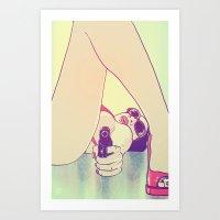 Girl With Gun 2 Art Print
