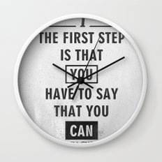Will Smith quote - Motivational poster Wall Clock