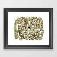 City Machine - Gold Framed Art Print