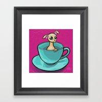 Chihuahua In A Teacup Framed Art Print