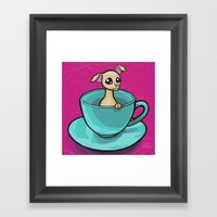 Chihuahua In A Teacup Framed Art Print