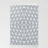Geo Outline Grey Stationery Cards