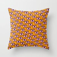Colorful Eyes IV. Throw Pillow
