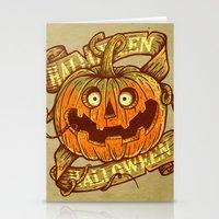 Halloween Dark Khaki Stationery Cards