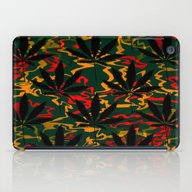 iPad Case featuring Rasta Leaves... by Cherie DeBevoise