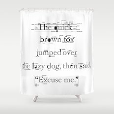 The Quick Shower Curtain