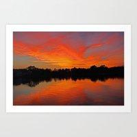 Lafayette River Sunset Art Print