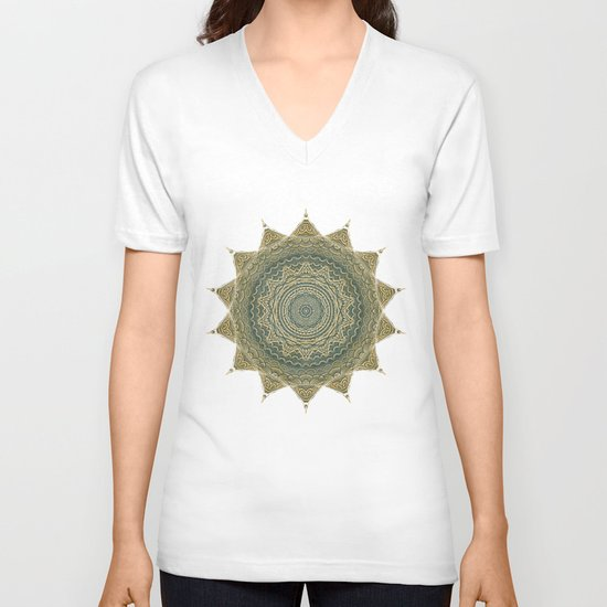 Sun Symbol V-neck T-shirt