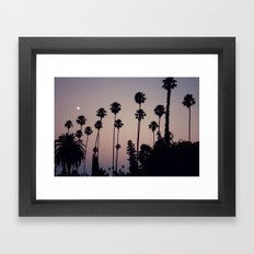 Hollywood Forever Cemetery Sunset  Framed Art Print