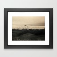 Icy Mountain Framed Art Print