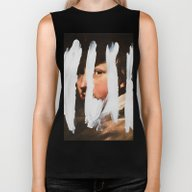Biker Tank featuring Untitled (Finger Paint 2… by Chad Wys