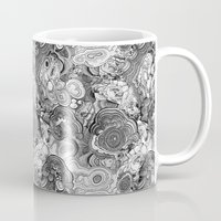 Malachite black and white Mug