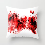 Liquid Red Throw Pillow