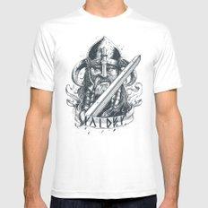 Raider (Viking) Mens Fitted Tee White SMALL