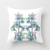 Calahan's Orchids Throw Pillow