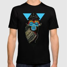 Color me Monkey Black SMALL Mens Fitted Tee