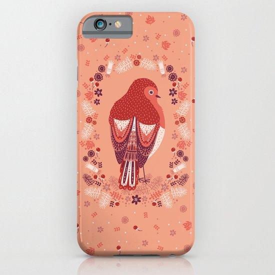 Petite Robin Red Breast iPhone & iPod Case