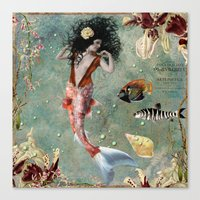 She lives in the deep blue sea. Canvas Print