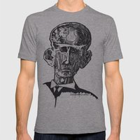 Old man woodblock Mens Fitted Tee Athletic Grey SMALL