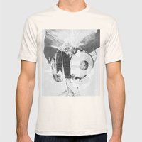When B, grey Mens Fitted Tee Natural SMALL