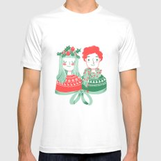 Christmas time White Mens Fitted Tee SMALL