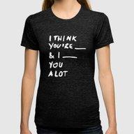 ____ Womens Fitted Tee Tri-Black SMALL
