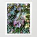 Summer Leaves of Love Art Print