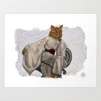 La Grande Dame, Couture Kitty Art Print