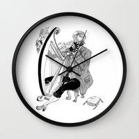 Ye Olde Harp Player Wall Clock