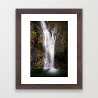 Coast Waterfall Framed Art Print