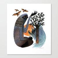 Big Foot's Demons Canvas Print