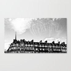 Cloudy in Paris. Canvas Print