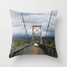 Across the Bridge and Beyond Throw Pillow