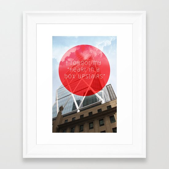 heart in a box upstairs Framed Art Print