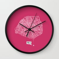 Spidermaps #1 Light Wall Clock
