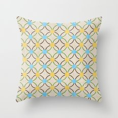 English Country Pattern. Throw Pillow