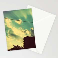 sun goes down Stationery Cards