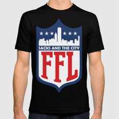 Sacks and the City SMALL Black Mens Fitted Tee