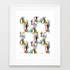 Tree Triangles Framed Art Print