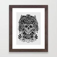 Venom Fame crest Framed Art Print