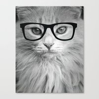 THE HIPPEST CAT Canvas Print