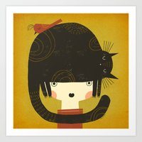 NAPPY HAT Art Print